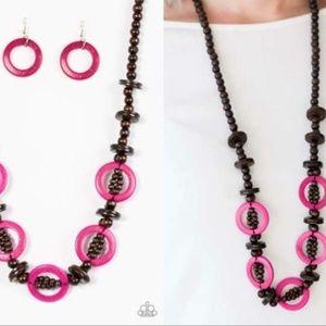 Wooden Necklace Set - Fashion Accessories
